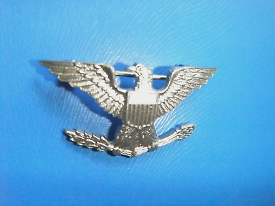 Military United States Army / USMC Colonel's Rank Insignia Badge -Clasp Pin Back