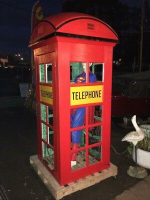 Red PMG telephone Box Booth. In Geelong