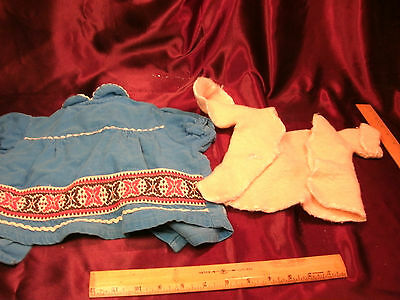 2 Atq/Vtg Small Girl Baby or Doll Coat & Sweater-knit & cordaroy-free ship