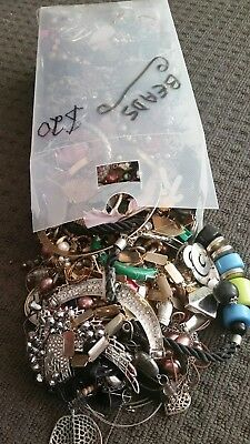 Just under 5 Kilograms of Broken Craft Jewelry Beads bits and pieces Huge lot