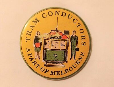 Original Melbourne Tram Conductor badge