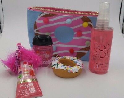 Bath & Body Works Donut cosmetic bag with Goodies!