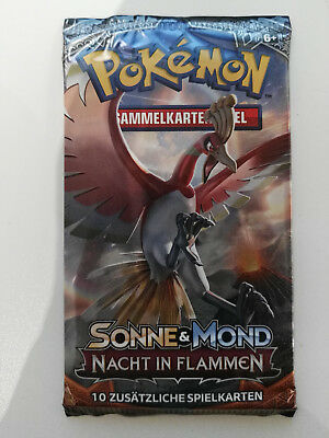 1x Pokemon Sonne & Mond Nacht in Flammen Booster Deutsch
