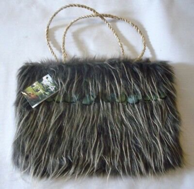 Cute Kiwi Bird Styled Fur And Feathers Tote Bag Made In New Zealand