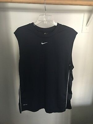 Nike Dri-Fit Men's XL Sleeveless Navy Blue T Shirt