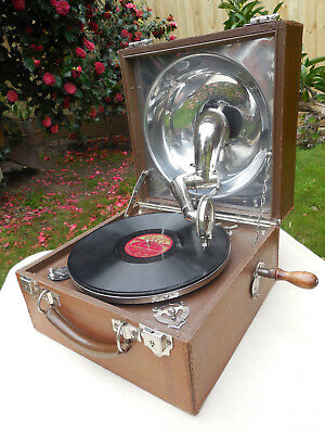 Vintage Gramophone Phonograph Decca Portable Deluxe Model  C1928   *Excellent*