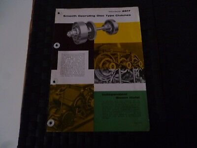 Neal Unit Disc Type Clutches Nu 1620 Technical Data Ref 2617 Leaflet *read*