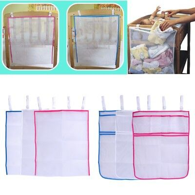 Pocket Baby Bed Hanging Storage Bag Crib Organizer Toy Diaper For Cradle Bedding