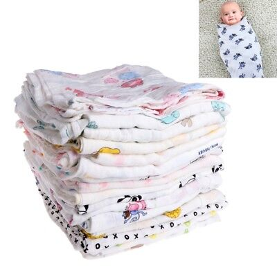 110x120cm Muslin Newborn Baby Blanket Bedding Wrap Swaddle Bath Towel Blanket