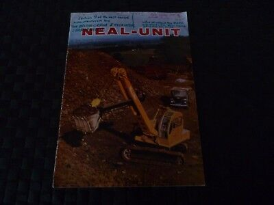 Neal Unit British Crane & Excavator Corporation Booklet *read & See All Pictures