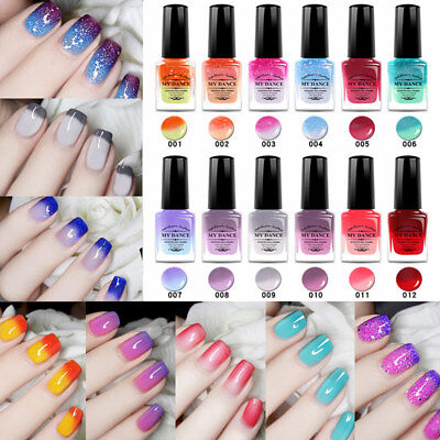 6 ml Thermal Nail Polish Peel Off Temperature Color Changing Varnish Manicure