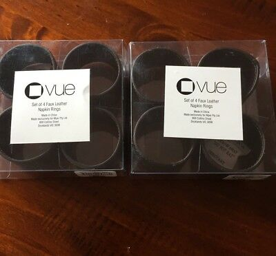 vue Faux Leather Napkin Rings