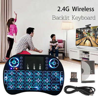 i8 2.4GHz Funk Mini Tastatur Wireless Keyboard Air Mouse Touchpad für TV Android