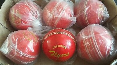 Cricket Flyers Brand 5.1/2 Oz Maxx Quilaty  Leather Balls ×6 ° ( Reduced .