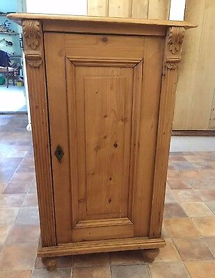 Antique Pine Cupboard Beautiful Carved detailing.