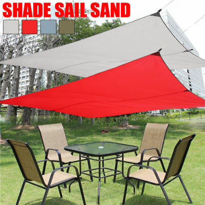 Sun Shade Sail Waterproof Outdoor Canopy Cover - Sand Cloth Rectangle Square