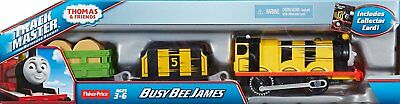 Thomas & Friends Trackmaster - Busy Bee James Motorized Engine + Carriages Bnib
