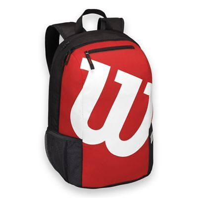 Wilson Match II Tennis Backpack Bags Rucksack Rackets Black Red NWT WRZ-820695