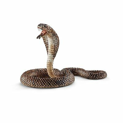 Fake Realistic Plastic Schleich Cobra Snake Toy 4 Inch Long Props Scary Gag US