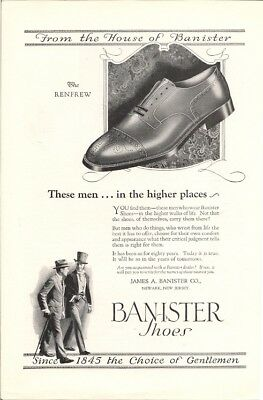 Men Who Wear Banister Shoes Found in Higher Walks of Life Vintage Ad