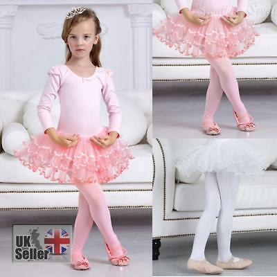 UK 120-Denier Kids Child Girl Ballet Tap Modern Dancewear Dance Tights 3-9 Ages