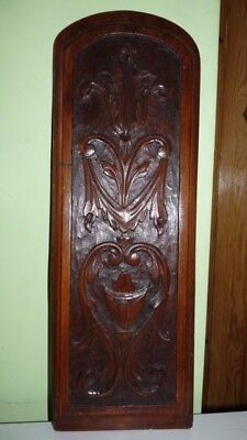 Vintage Carved Wooden Plaque Panel.size: 22 X 7 1/2 Inches.
