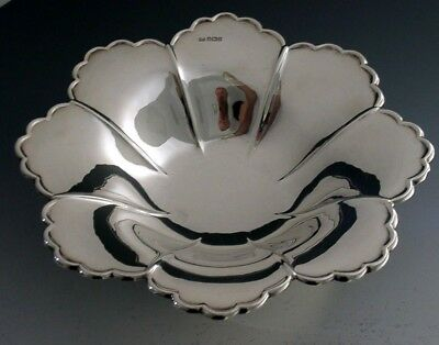 STUNNING LARGE ENGLISH STERLING SILVER ART NOUVEAU FRUIT BOWL 1907 ANTIQUE 402g