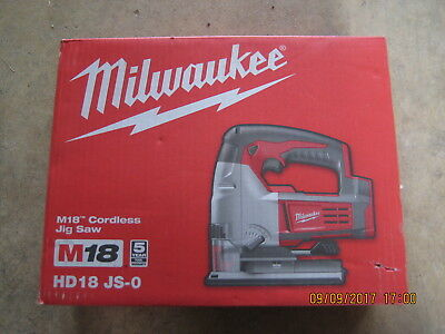 Milwaukee M18 Cordless Jigsaw Skin Only Mod No HD18JS-0 new in box
