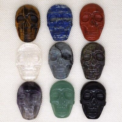 1.95 Inch (49mm) Exquisite Hand-Carved Natural Gemstone Skull Cab Cabochon