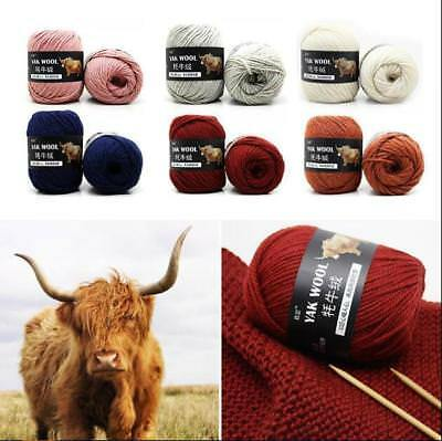 Wholesale 33 Colors Knit Crochet super soft yak wool cashmere Yarn 100g lot of