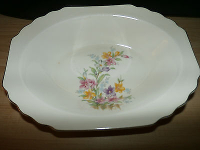 Vintage W S George Lido GEO2 Canarytone Oval Vegetable Serving Bowl
