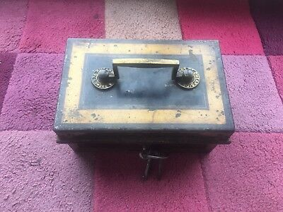 Antique Safe 1800s Hobbs & Co London Stagecoach Lock Box
