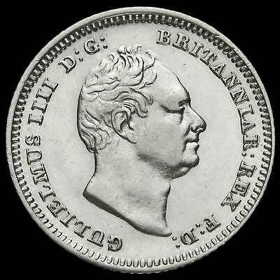 1837 William IV Milled Silver Fourpence / Groat, A/EF