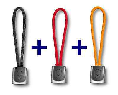 Swiss Army Knife Victorinox Set Of 3 Lanyards Black + Red + Orange