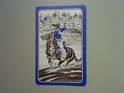 1 Single Swap/Playing Card - Cowboy on Horse at Rodeo*
