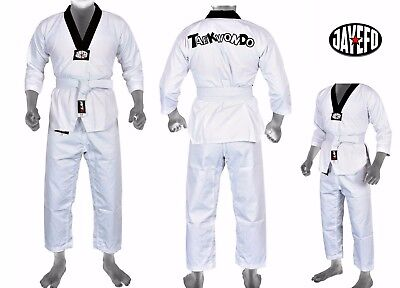 Hard-Working Adult Kids 9 Oz 100% Cotton Karate Uniform White And Black Free Belt To Win A High Admiration And Is Widely Trusted At Home And Abroad. Other Combat Sport Supplies
