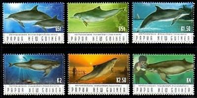 Papua New Guinea 2003 MNH MUH Set - Protected Species - Dolphins