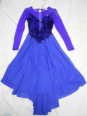 dancing outfit ladies vintage, royal blue sz lg.great condition.