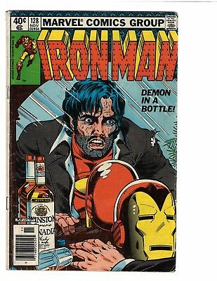Iron Man 128 Demon in a Bottle Alcoholism Story Good/VG Condition