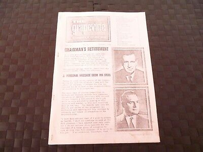 The Grapevine Newspaper Of Steel Group Of Companies Cranes October 1965 *read*