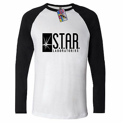 STAR LABS long sleeve T SHIRT laboratories the FLASH DC Comics S.T.A.R. gotham