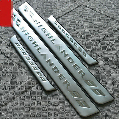 Stainless Steel High Quality Door Sill Scuff Plate For Toyota Highlander 08-13