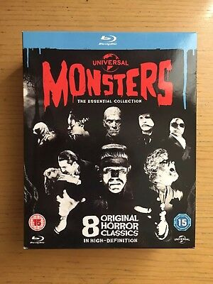 Universal Classic Monster - The Essential Collection (Blu-ray, 2012, 8-Disc Set)
