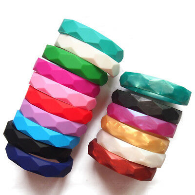 Safe Silicone Baby Chewable Teether Teething Jewelry Bangle Bracelets BPA Free