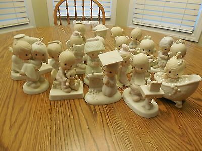 Precious Moments Lot Of 17 Better Pcs. EUC Orig Boxes Numbers & Titles Listed