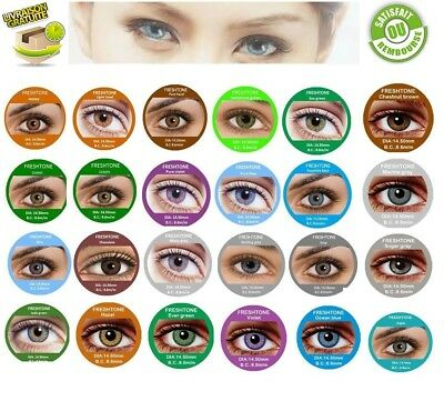 Color Cosmetic Lenses ** Lentilles de couleur * * 1 year * * FRESHTONE**