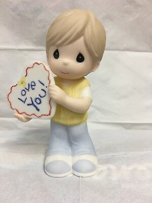 "Precious Moments ""Love You"" little boy figurine"