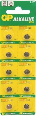10 x GP AG3  LR41 192 1.5V Alkaline Batteries GP192 392 SR41