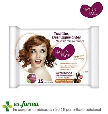 Natur Face Toallitas Desmaquillantes Waterproof 15 Uds Make-Up Remover Wipes