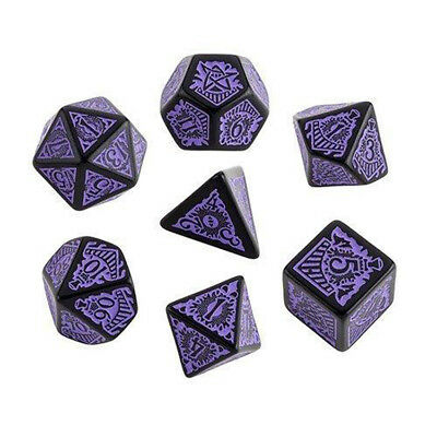 Call of Cthulhu Horror on the orient express Black-purple dice set (7)